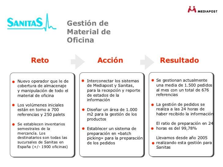 Presentaci n log stica relacional for Oficinas de sanitas en madrid