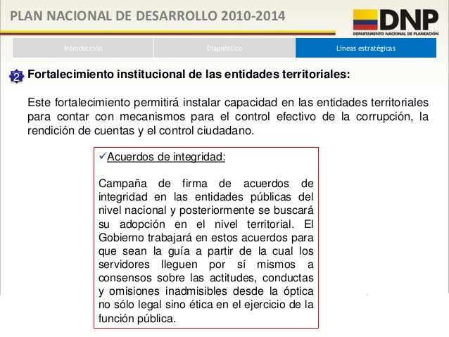 PLAN NACIONAL DE DESARROLLO 2010-2014           Introducción                Diagnóstico              Líneas estratégicas 3...