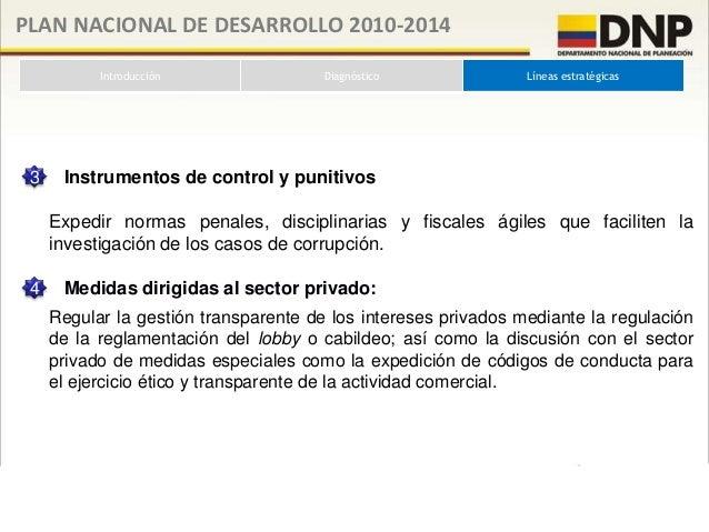 PLAN NACIONAL DE DESARROLLO 2010-2014           Introducción                    Diagnóstico                  Líneas estrat...