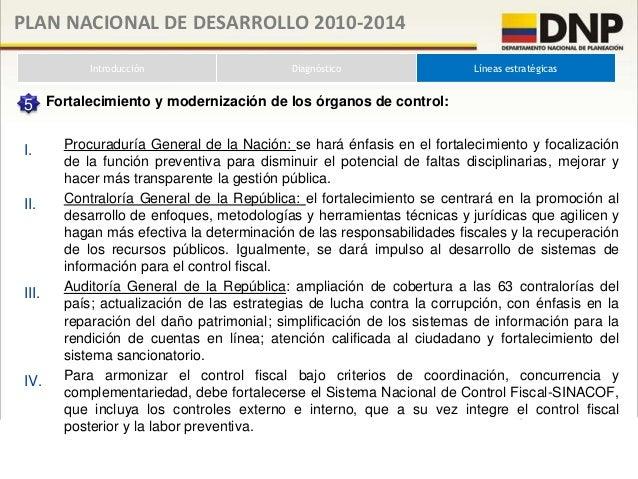 PLAN NACIONAL DE DESARROLLO 2010-2014          Introducción                Diagnóstico              Líneas estratégicas   ...