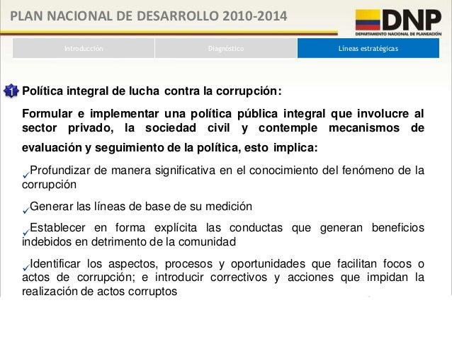 PLAN NACIONAL DE DESARROLLO 2010-2014         Introducción                     Diagnóstico               Líneas estratégic...