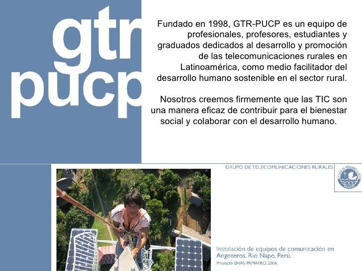 PLANEACIÓN DE PROYECTOS EN TELECOMUNICACIONES RURALES Slide 2
