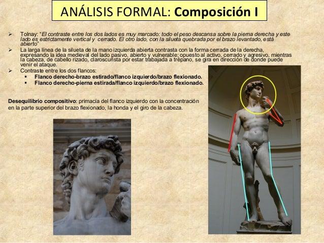 """ANÁLISIS FORMAL: Composición I      Tolnay: """"El contraste entre los dos lados es muy marcado: todo el peso descansa sob..."""