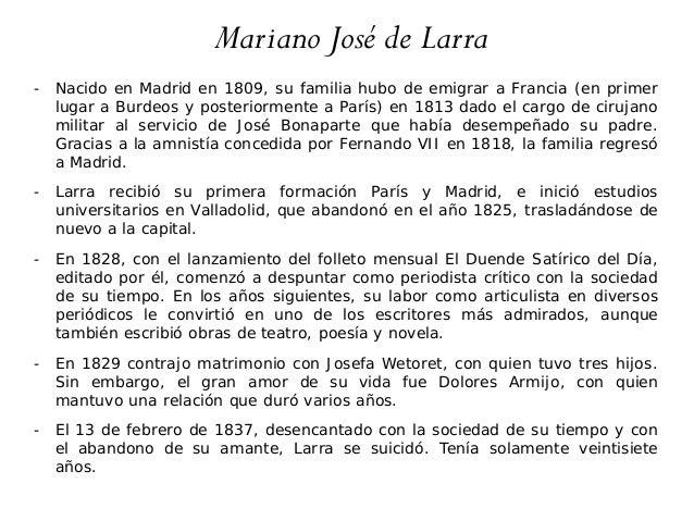 """Ciclo de charlas """"Ciudades y escritores europeos del siglo XIX"""". I. El Madrid de Larra Slide 3"""