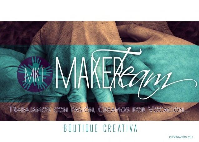 Presentación de servicios Maker Team Consulting 2015