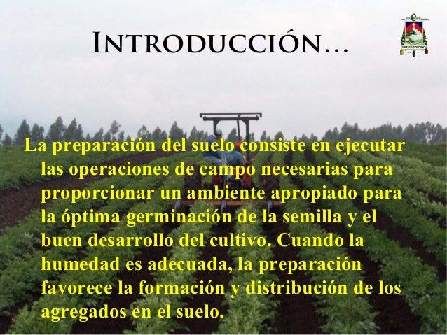 Presentación maquinaria agrícola - Laboreo del suelo Slide 2