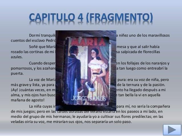 Fragmentos De Los Capitulos 1 2 4 6 60 Y 65 De La Novela Maria De