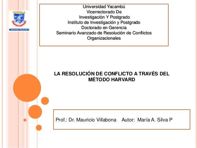 Universidad Yacambú                Vicerrectorado De            Investigación Y Postgrado     Instituto de Investigación y...