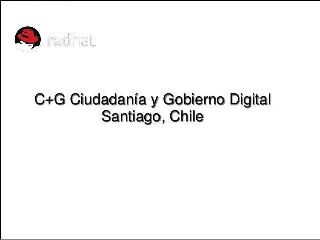 C+G Ciudadanía y Gobierno Digital              Santiago, Chile              MARK BOHANNONVice President, Global Public Pol...