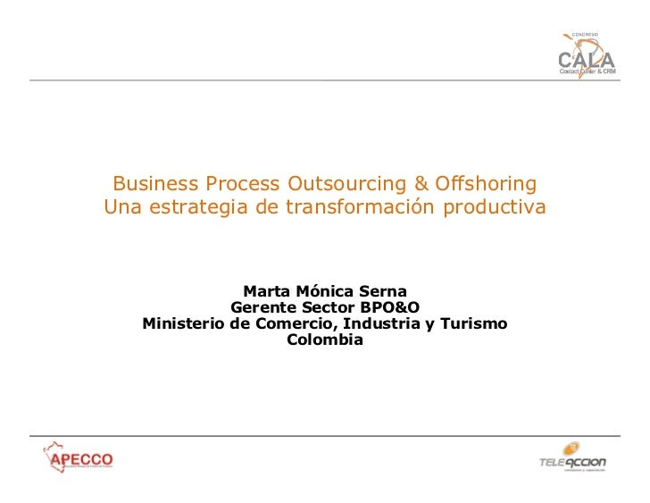the indian business process offshoring industry During the next 10 years, we believe that headcount in the bpo industry will  reach  developments in it and communication led to offshoring, primarily to  india for  centres in budapest alone, including indian business process  outsourcing.