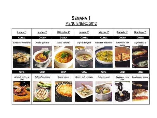 Presentación menús semanales Thermomix