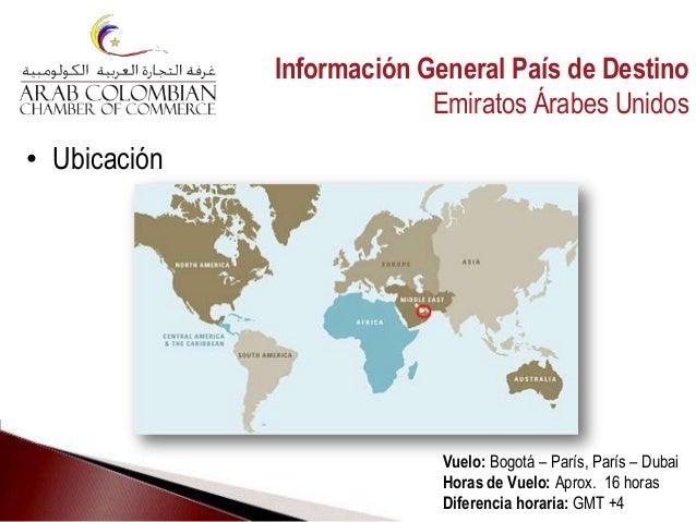 • Ubicación Vuelo: Bogotá – París, París – Dubai Horas de Vuelo: Aprox. 16 horas Diferencia horaria: GMT +4 Información Ge...