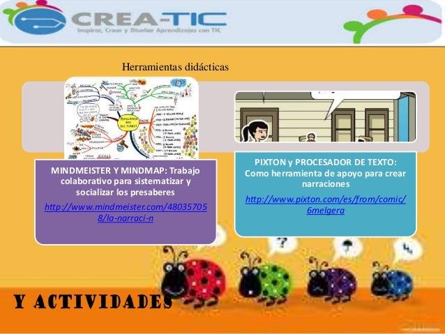 Herramientas didácticas  MINDMEISTER Y MINDMAP: Trabajo  colaborativo para sistematizar y  socializar los presaberes  http...