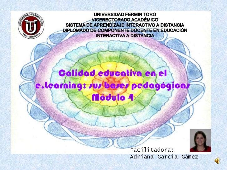 UNIVERSIDAD FERMIN TORO<br />VICERECTORADO ACADÉMICO<br />SISTEMA DE APRENDIZAJE INTERACTIVO A DISTANCIA<br />DIPLOMADO DE...