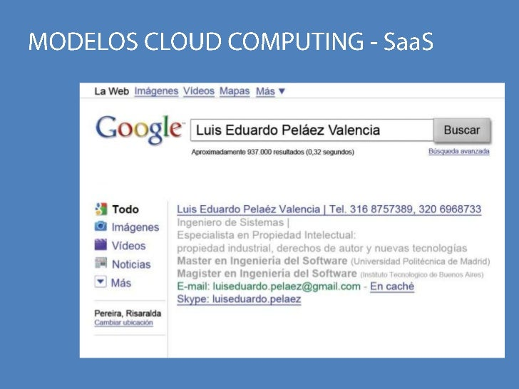 MODELOS CLOUD COMPUTING - SaaS<br />