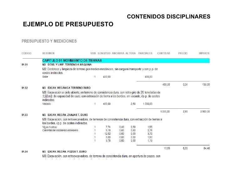 Edificaci n y obra civil for Presupuesto de obra de construccion pdf