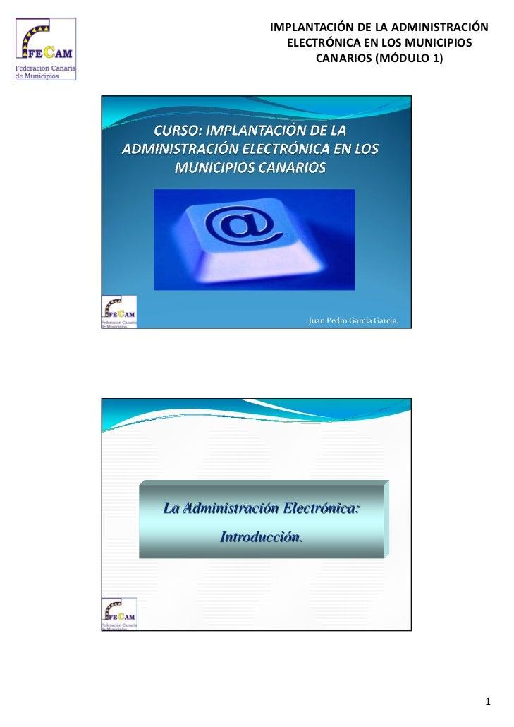 IMPLANTACIÓNDELAADMINISTRACIÓN                  ELECTRÓNICAENLOSMUNICIPIOS                       CANARIOS(MÓDULO...
