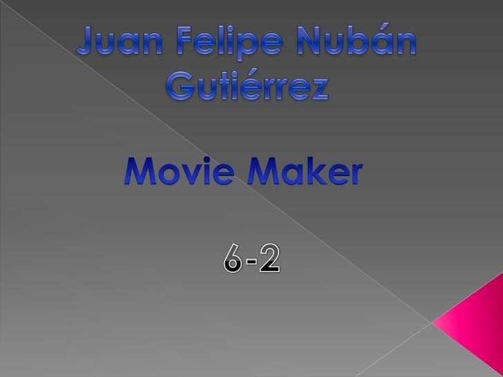 Windows Movie Maker es un programaque viene incluido en windows que nossirve para crear presentaciones deimágenes y videos...