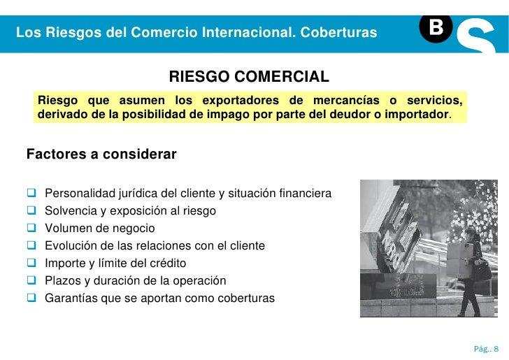 Los riesgos en el comercio internacional medios de pago y for Comercio exterior que es