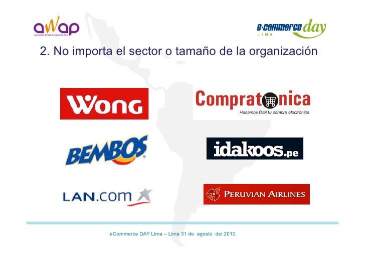 Presentación métricas   10 principios - Ecommerce Day Lima Perú 2010 Slide 3