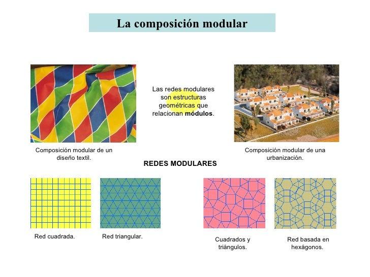La composición modular Composición modular de un diseño textil. Composición modular de una urbanización. Red cuadrada. Cua...