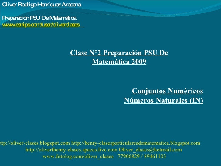 http://oliver-clases.blogspot.com   http://henry-clasesparticularesdematematica.blogspot.com   http://oliverthenry-clases....