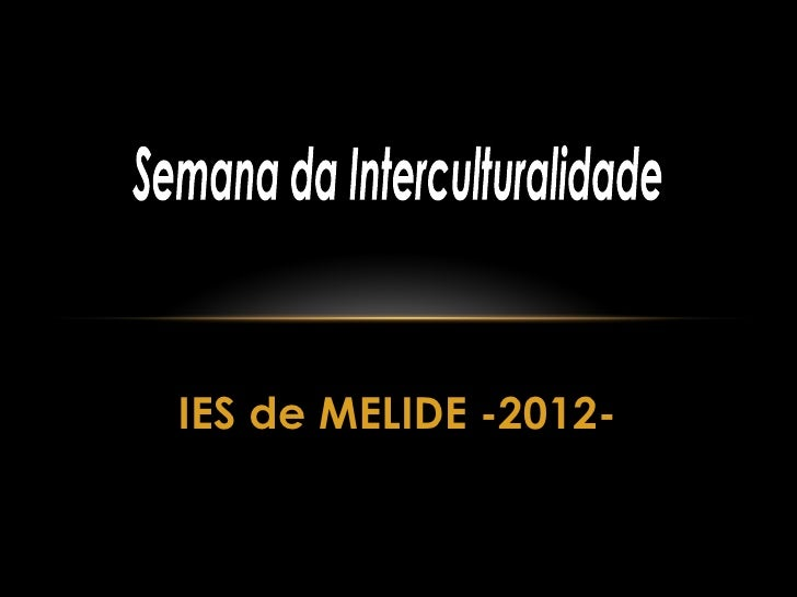 IES de MELIDE -2012-
