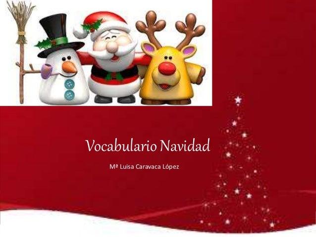 Vocabulario Navidad Mª Luisa Caravaca López