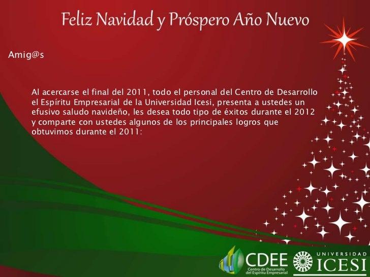 Presentaci n cdee navidad espa ol 2011 - Mensajes navidenos para empresas ...
