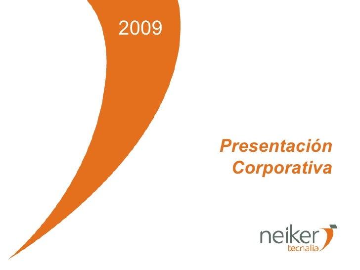 2009 Presentación Corporativa