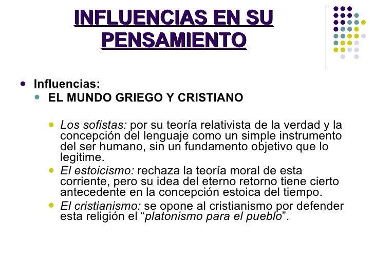 INFLUENCIAS EN SU PENSAMIENTO <ul><li>Influencias: </li></ul><ul><ul><li>EL MUNDO GRIEGO Y CRISTIANO </li></ul></ul><ul><u...