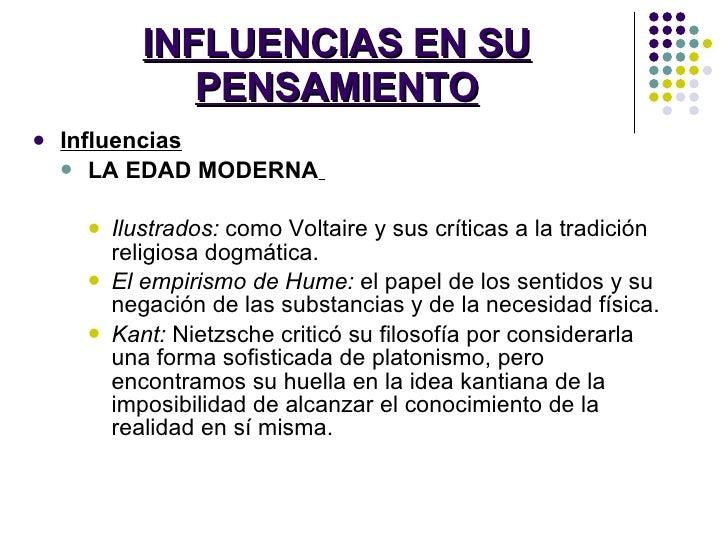 INFLUENCIAS EN SU PENSAMIENTO <ul><li>Influencias </li></ul><ul><ul><li>LA EDAD MODERNA   </li></ul></ul><ul><ul><ul><li>I...