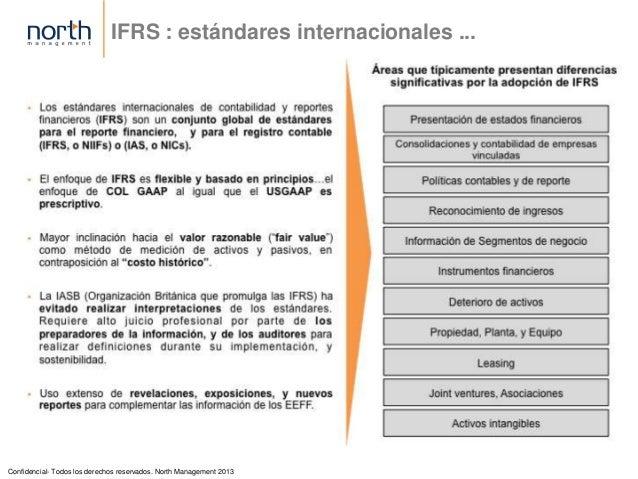 IFRS - Estandares Internacionales de Contabilidad y Reportes Financieros Slide 3