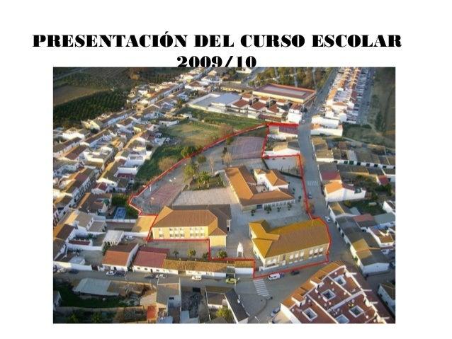 PRESENTACIÓN DEL CURSO ESCOLAR2009/10