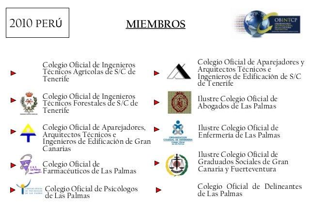 Presentaci n obintcp d jos francisco s nchez delgado - Colegio de aparejadores de tenerife ...