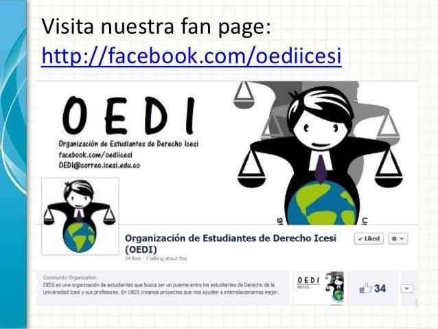 Visita nuestra fan page:http://facebook.com/oediicesi