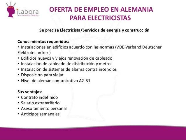 Presentaci n ofertas extranjero foro empleo for Trabajo de electricista en malaga