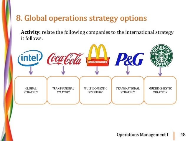 mcdonalds generic strategy Porter wrote in 1980 that strategy targets either cost leadership, differentiation, or focus these are known as porter's three generic strategies and can be applied.