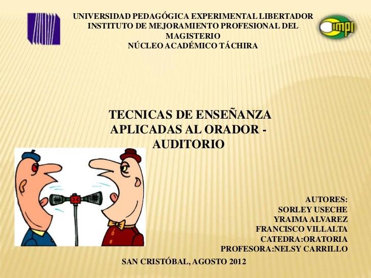 UNIVERSIDAD PEDAGÓGICA EXPERIMENTAL LIBERTADOR   INSTITUTO DE MEJORAMIENTO PROFESIONAL DEL                   MAGISTERIO   ...