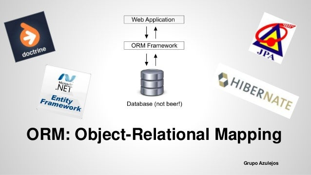 ORM: Object-Relational Mapping Grupo Azulejos