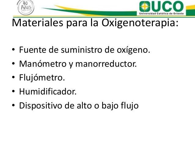 Presentaci n oxigenoterapia - Humidificador que es ...