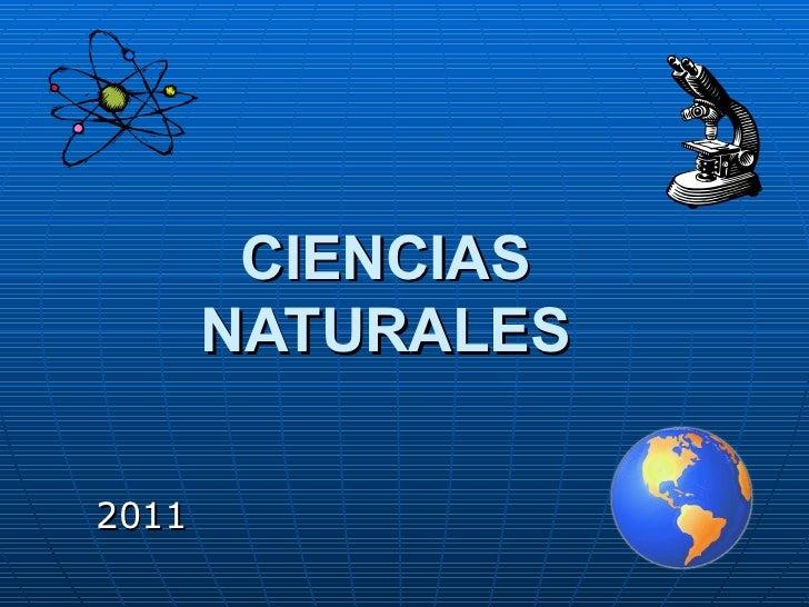 CIENCIAS NATURALES 2011