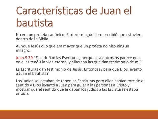 La misión de Juan era revelar a Cristo como el verdadero cumplimiento de las profecías porque interpretaban mal las profec...