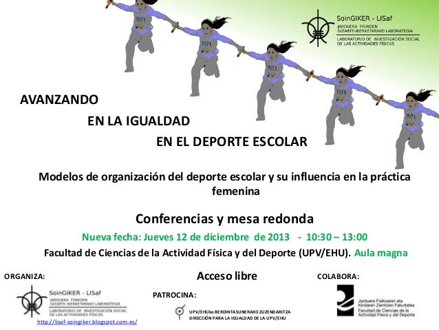 AVANZANDO EN LA IGUALDAD EN EL DEPORTE ESCOLAR Modelos de organización del deporte escolar y su influencia en la práctica ...