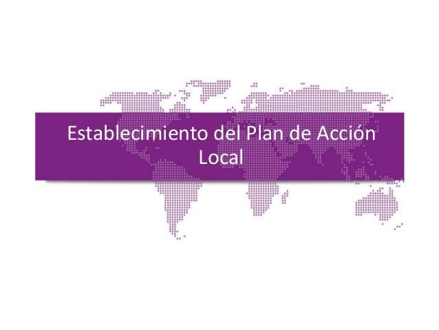 Establecimiento del Plan de Acción Local