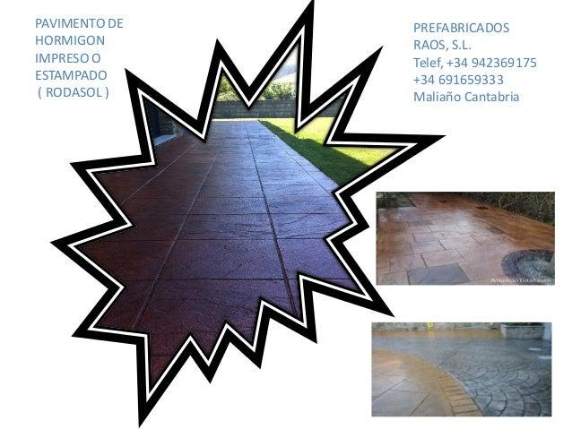 Presentaci n pavimentos de hormigon cantabria for Pavimentos de hormigon