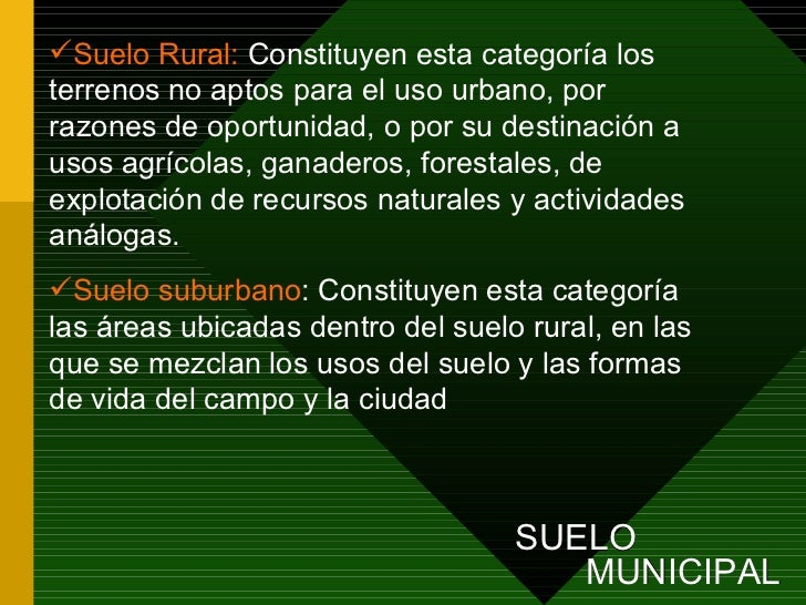 Presentaci n pbot comp rural for Suelo suburbano