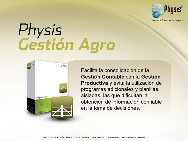 Presentación physis gestión agro Slide 2