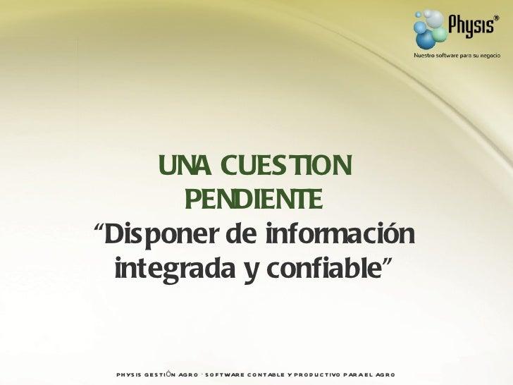 Presentación physis gestión agro Slide 3