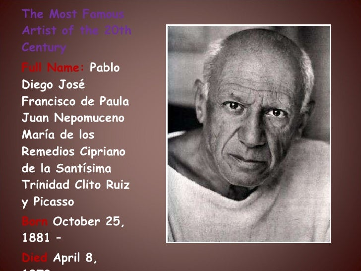 Pablo Picasso Presentation